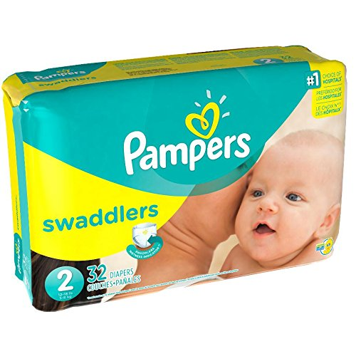 Pampers Swaddlers Diapers, Size 2, 32 Count