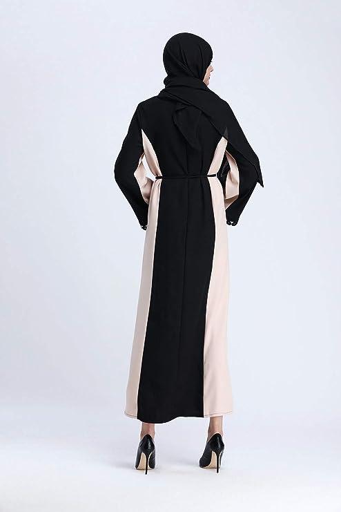 a04be5468b00 Donne Lunga Tunica Abiti Musulmano - Islamico Medio Oriente Maxi Casuale  Elegante Capi di Abbigliamento Signora Preghiera Ramadan Costume   Amazon.it  ...