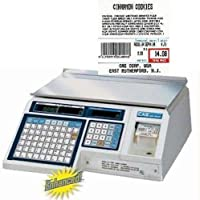 CAS LP-1000N Label Printing Scale Legal for Trade , 30 x 0.01 lb with a FREE 1 case CAS LST-8020 UPC w/Ingredients Label, 58 x 60 mm
