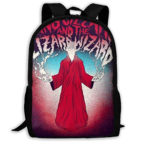 - Sunmoonet King Gizzard and Lizard Wizard Adorable Backpack College School Travel Bags Waterproof Shoulder Backpacks for Men Women