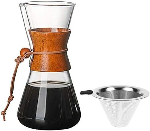 Homie 400ml / 600ml / 800ml Cafetera de Vidrio Resistente al Calor ...