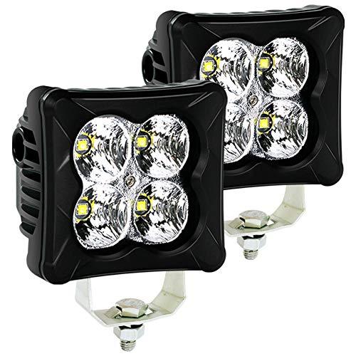 Cube 3 Light - 4WDKING LED Pods Flood Light Bar - 2PCS 40W CREE LED Off Road Work Light Truck Fog Lamp Tail Light IP69K Waterproof ATV Cube Lights