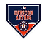 "Houston Astros MLB 9.25"" x 9.25"" Home Plate Sign"