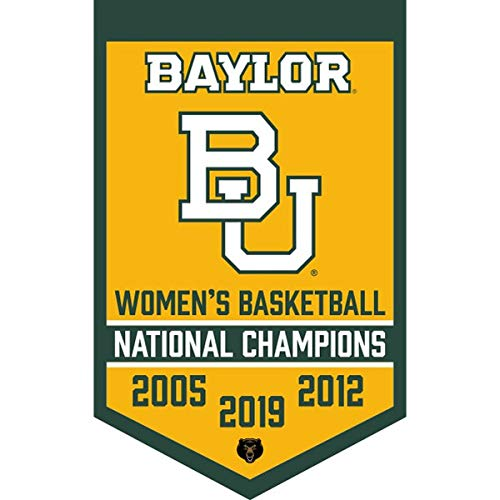 (Baylor Bears 3-Time Womens National Basketball Champions Banner)