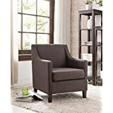 Kings Brand Chocolate Upholstered Accent Living Room Club Chair