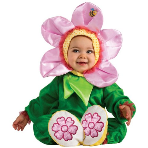 Rubie's Cuddly Jungle Pink Pansy Romper Costume, Green, 6-12 Months -