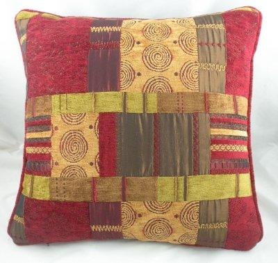 Homestreet Cushions Evans Lichfield Marruecos Vino Patchwork ...
