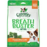 Greenies Breath Buster Bites Treats For Dogs Chicken & Parsley Flavor, 11 Oz., Makes A Great Holiday Dog Gift