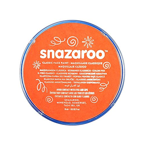 Snazaroo 1118553 Classic Face Paint, 18ml, Orange -