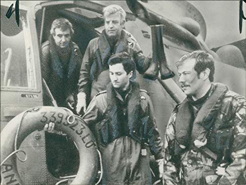 Raf Sea King Helicopter - Vintage photo of The crew of an RAF Sea King helicopter back at R A F Brawdy.