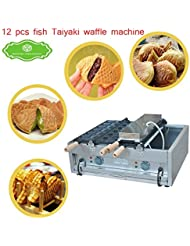 FY 1102A Commercial Use Big 2plates 6pcs Ice Cream Taiyaki Fish Waffle Maker Machine Baker 110V
