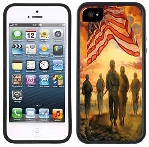 Army American Flag Handmade iPhone 5C Black Case