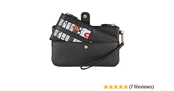 Amazon.com: Lodis Olivia Italian Leather Wristlet & Card Stacker, BLACK: Clothing