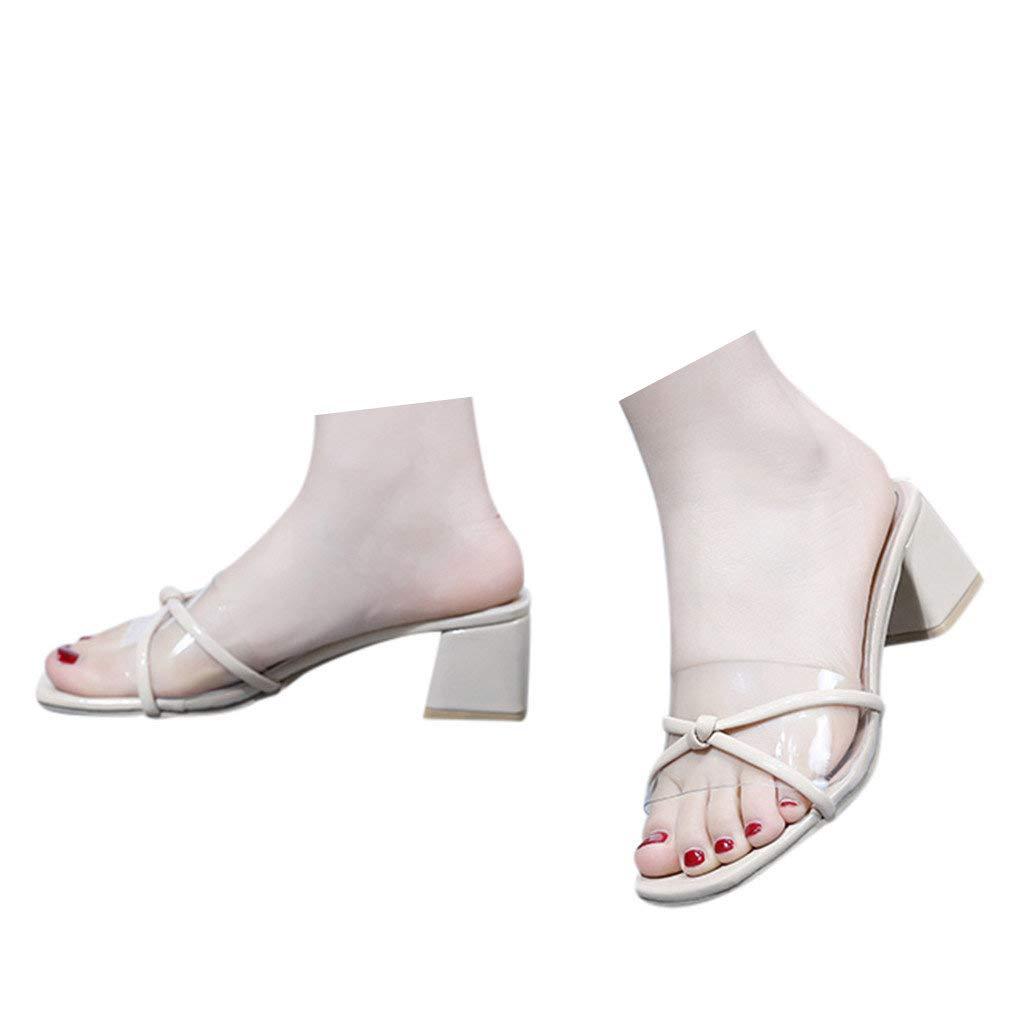 77125ccc5af Amazon.com: Veodhekai Womens Mid Heel Sandals Open Toe Sweet Wedding ...