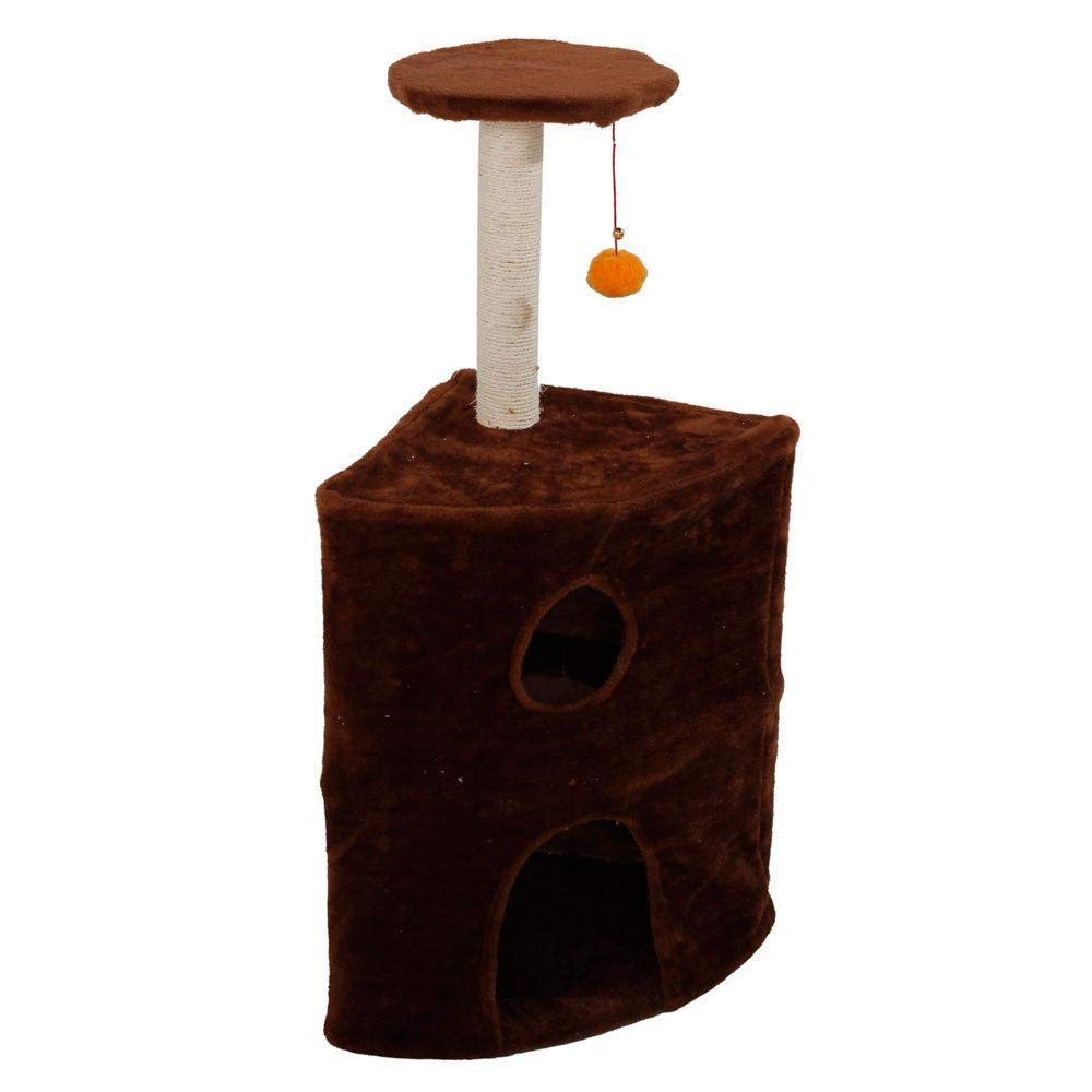TOUYOUIOPNG Deluxe Multi Level Cat Tree Cat Climbing frame Cat Activity Center cat tree Cat Nest for sleeping games 19.69cm 13.78cm  35.83cm