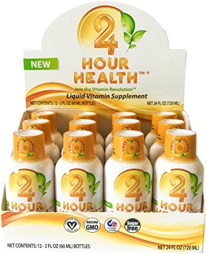 Liquid Vitamins – Vegan Multi-Vitamin, Liquid Minerals, Vitamins C + B, Sugar Free Non GMO Nutritional Dietary Supplement, 98% Absorption Promotes Stress Relief, Weight Loss,Heart & Brain Health,12pk