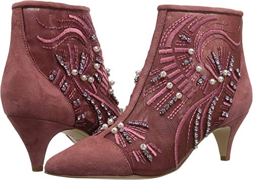 Sam Edelman Women's Kami Fashion Boot, Misty Rose Abstract Wave Embroidery, 6 M US