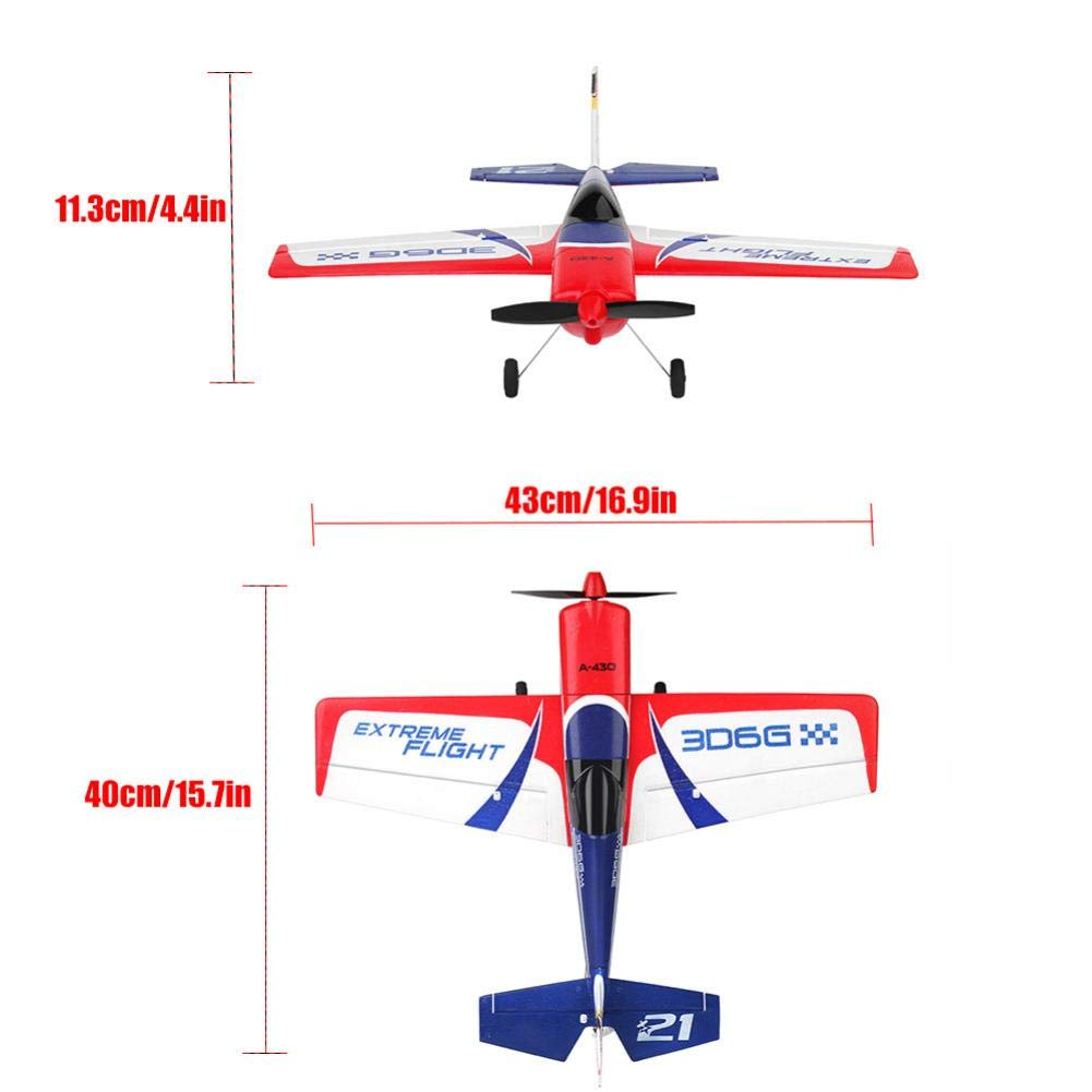 Jeeke RC Airplane Brushless Motor RC Glider XK A430 2.4G 5CH 3D6G System Compatible with FUTABA S-FHSS (White, 43×40×11.3cm/16.9×15.7×4.4in)-Shipping from USA by Jeeke (Image #6)