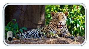 Hipster awesome iPhone 4S covers jaguar forest TPU White for Apple iPhone 4/4S by Maris's Diary