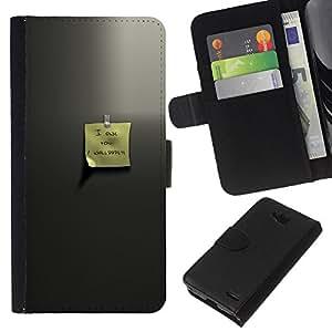 LECELL--Cuero de la tarjeta la carpeta del tirón Smartphone Slots Protección Holder For LG OPTIMUS L90 -- Estimado memo --