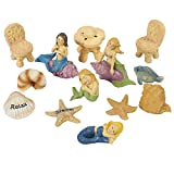 Juvale 13 Piece Garden Fairy Kit – Mermaids Miniature Resin Figurines with Accessories, Decorative Spring Flower Garden Ornaments for Outdoor, Lawn, and Home Decoration
