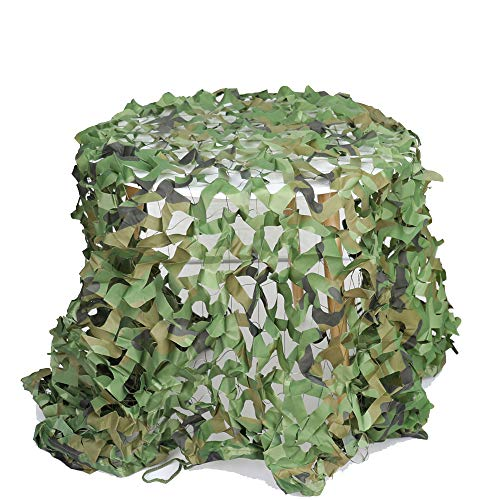 Anyoupin Camo Netting Camouflage Netting Military Mesh Net with Ropes for Sunshade Duck & Deer Hunting Blinds Decoration Camping Theme Party CS Game Woodland (Jungle Camo, 1M x 2M/3.28FT x 6.56FT) (Army Party Games)
