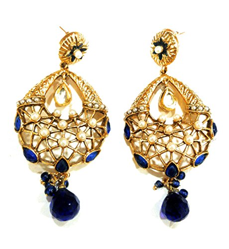 Price comparison product image Indian Bollywood Ethnic Oxidised Fancy Party Wear Pearl Traditional Jhumka Jhumki Earrings for Girls & Women