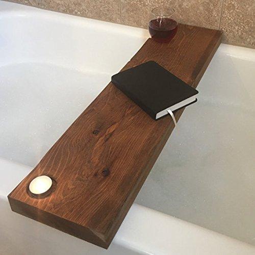 Amazon.com: Addison Wooden Bathtub Caddy in Western Red Cedar: Handmade