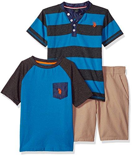 U.S. Polo Assn. Boys T-Shirt and Short 3 Piece Set