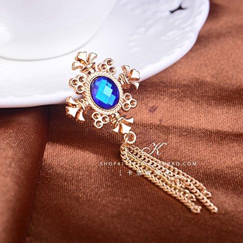 (Korean men suit corsage brooch pin brooch fringed cross crystal collar pin badge Blood Brothers)