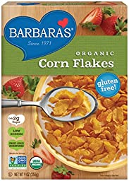 Barbara\'s Organic Corn Flakes Cereal, 9 Ounce (Pack of 6)