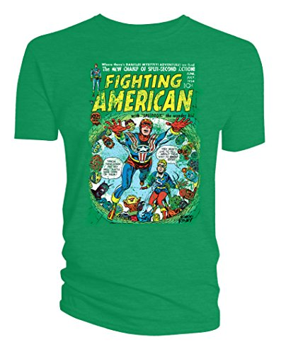 Simon & Kirby Mens T-Shirt Fighting American Ghost City Green Xl ()