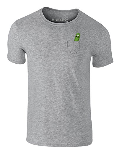 Pickle Pocket, Adults T-Shirt - Heather Grey M