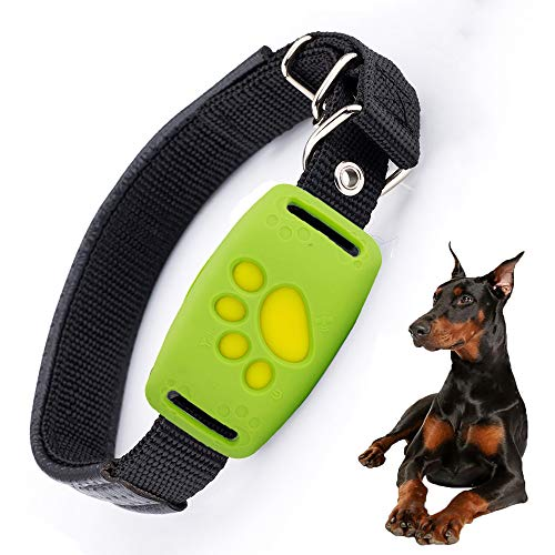 FXQIN Dog GPS Tracker - Lightweight and Waterproof Dog Tracking Device with Unlimited Range, Anti Lost Collar Attachment (Green) ()