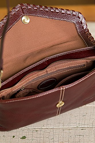 Connie Pebbled Leather Crossbody Wristlet Clutch by Overland Sheepskin Co (Image #3)