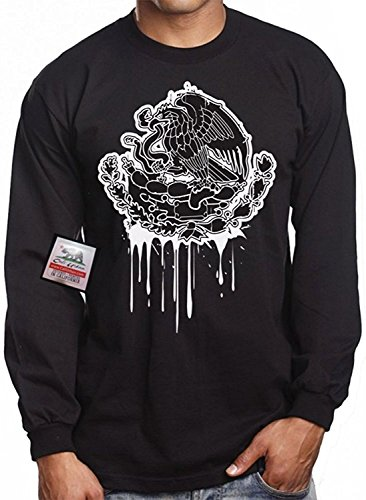 Long Sleeve Mexican Eagle CALI URBAN Wear T shirt Pride Mexico Tattoo Drip