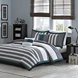 Intelligent Design Sven 5 Piece Comforter Set Teal Full/Queen