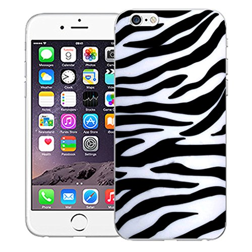 "Mobile Case Mate iPhone 6S 4.7"" Silicone Coque couverture case cover Pare-chocs + STYLET - Zebra pattern (SILICON)"