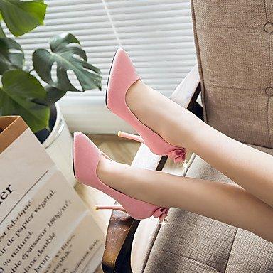 las Gris de Otro de Pink de verano de Talones mujeres primavera de aguja Otros Negro vestido Rosa tacón y cuero PqnpwU5
