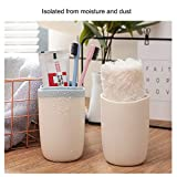 Poeland Travel Toothbrush Case Toothpaste Container Multifunction Capsule Shape Wash Gargle Cup