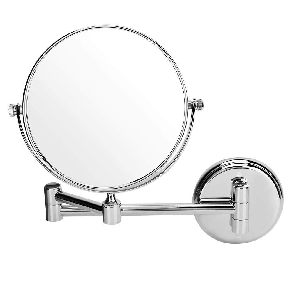 Bathroom Swiveling Mirror, Bathroom Dual-Side Bathroom Mirror Wall Mount Makeup Mirror Foldable Swiveling Dual-Side 3X Manifying Vanity Mirror (8 inch) by Ginyia