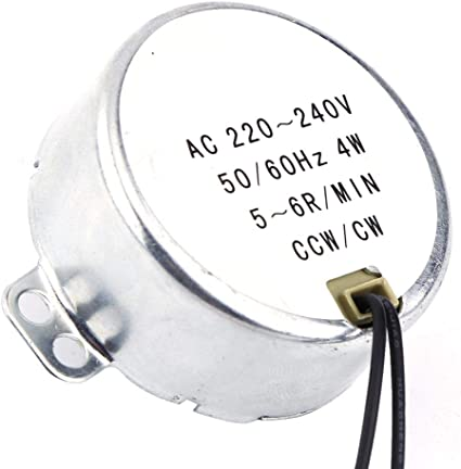 60Hz TYJ50-8A7 Plateau CARRYKT AC 220-240V 4W 6RPM 48mm Moteur Synchrone pour Souffleur dair 50