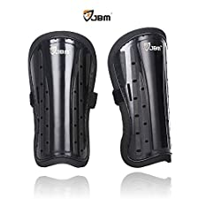 JBM Kids Child Soccer Shin Guards Leg Calf Protective Gear Shin Pads Support Soccer Accessories Impact Resistance Safe Lightweight Adjustable Comfortable Durable Fit Well for Football Games