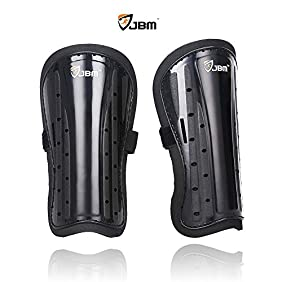 JBM Kids Child Soccer Shin Guards Leg Calf Protective Gear Shin Pads Support Soccer Accessories Impact Resistance Safe Lightweight Adjustable Comfortable Durable Fit Well for Football Games - Boys Girls