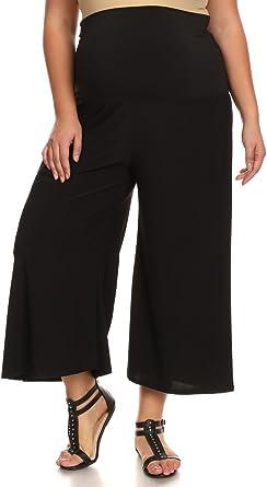 Pb Couture Womens Plus Size Gaucho Maternity Capri Pants Culotte At Amazon Women S Clothing Store