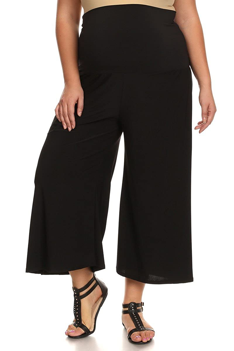 PB COUTURE Womens Plus Size Gaucho Maternity Capri Pants Culotte PBCGP128