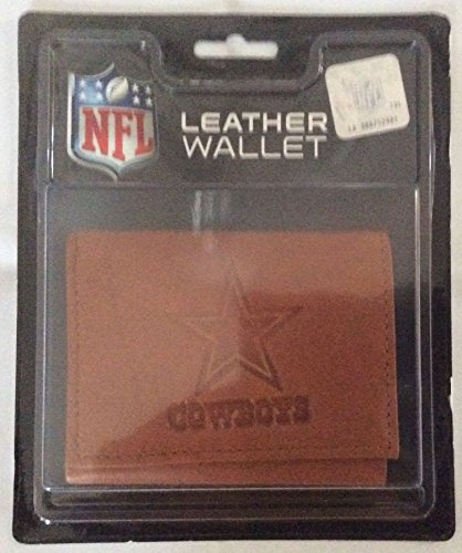NFL Dallas Cowboys Leather Trifold Wallet with Man Made -