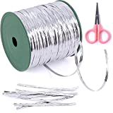 Glarks 350 Yard Silver Metallic Twist Ties for Bread Candy Bag Parties Decorative Ties (silver)