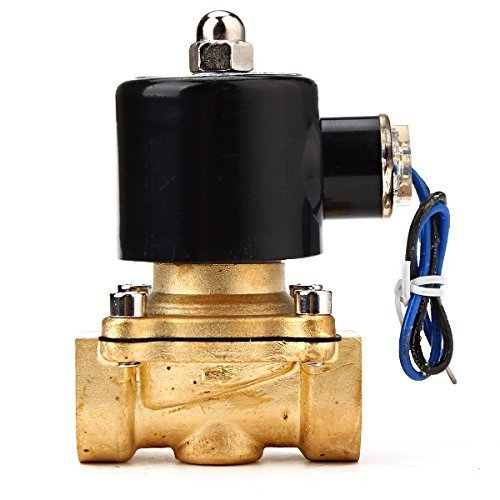 Water Air Gas Fuel Electric Solenoid Valve (Black) - 2