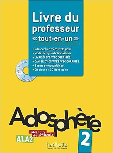 Livres Adosphère 2 - Livre du professeur + CD-Rom encarté pdf epub